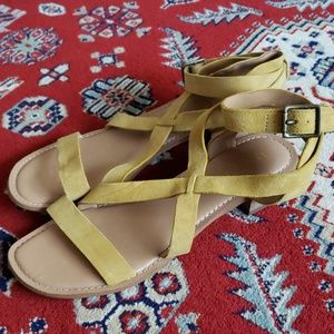 Franco Sarto : Yellow Leather Sandals